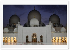 Abu Dhabi Mosque HD Wide Wallpaper for Widescreen