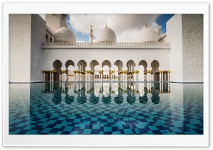 Abu Dhabi Mosque Ultra HD Wallpaper for 4K UHD Widescreen desktop, tablet & smartphone
