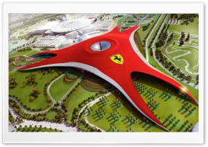 Abu Dhabi Yas Ferrari World HD Wide Wallpaper for Widescreen