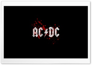 AC/DC Blood Logo HD Wide Wallpaper for Widescreen