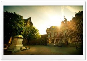 Academiegebouw, Utrecht, The Netherlands HD Wide Wallpaper for Widescreen