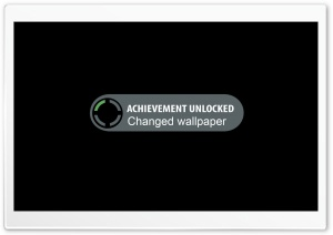 Achievement Unlocked HD Wide Wallpaper for Widescreen