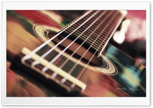 Acoustic Guitar HD Wide Wallpaper for Widescreen