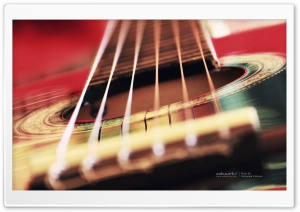 Acoustic Guitar Background HD Wide Wallpaper for Widescreen