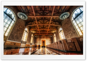 Across the Floors of Union Station HD Wide Wallpaper for Widescreen