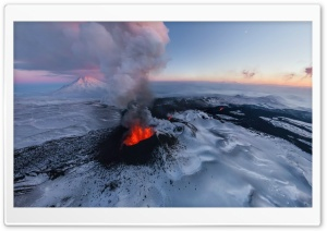 Active Volcano HD Wide Wallpaper for Widescreen