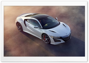 Acura NSX Coupe White Car HD Wide Wallpaper for Widescreen