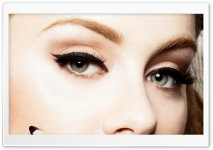 Adele's Eyes HD Wide Wallpaper for Widescreen