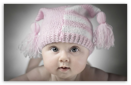 Download Adorable Little Baby UltraHD Wallpaper