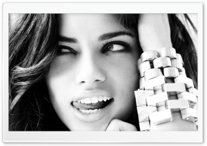 Adriana Lima Black And White HD Wide Wallpaper for Widescreen