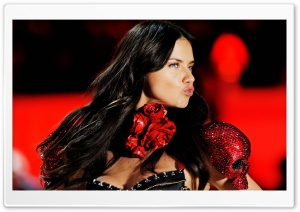 Adriana Lima Victoria's Secret Fashion Show HD Wide Wallpaper for Widescreen