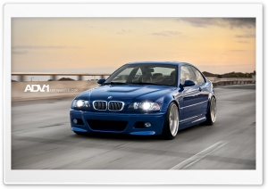 ADV.1 Blue BMW M3 e46 HD Wide Wallpaper for Widescreen