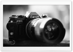 AE-1 Canon Camera HD Wide Wallpaper for Widescreen