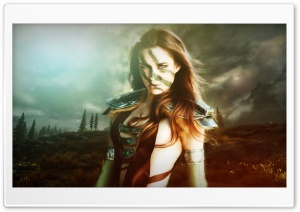 Aela The Huntress - Skyrim HD Wide Wallpaper for Widescreen