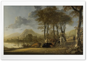 Aelbert Cuyp Painting HD Wide Wallpaper for 4K UHD Widescreen desktop & smartphone