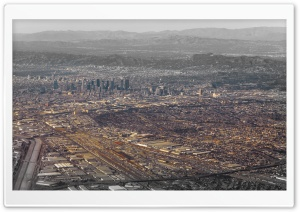 Aerial Photography Downtown Los Angeles HD Wide Wallpaper for Widescreen