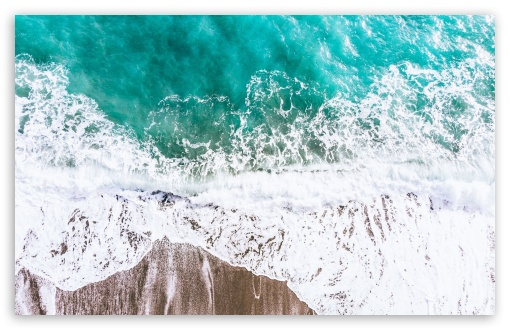 Aerial Photography Ocean Beach Wave Ultra Hd Desktop Background Wallpaper For Multi Display Dual Monitor Tablet Smartphone