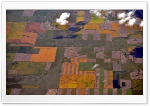 Aerial View - Near Coutts, Alberta HD Wide Wallpaper for Widescreen