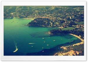Aerial View Of Cassis HD Wide Wallpaper for Widescreen