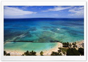 Aerial View Of Hawaii Beach HD Wide Wallpaper for Widescreen