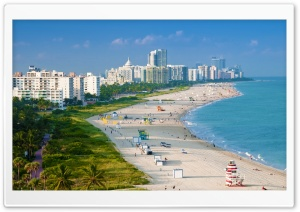 Aerial View Of Miami Beach HD Wide Wallpaper for 4K UHD Widescreen desktop & smartphone