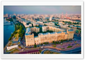 Aerial View Of Moscow HD Wide Wallpaper for 4K UHD Widescreen desktop & smartphone