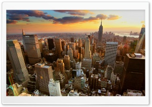 Aerial View Of New York City HD Wide Wallpaper for Widescreen