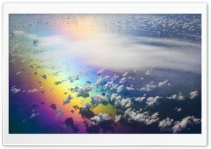 Aerial View Of Rainbow HD Wide Wallpaper for 4K UHD Widescreen desktop & smartphone