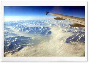 Aerial View Of The Alps HD Wide Wallpaper for Widescreen