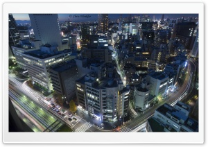 Aerial View of Tokyo, Japan HD Wide Wallpaper for Widescreen