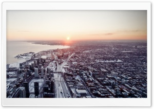 Aerial View Of Toronto City HD Wide Wallpaper for Widescreen