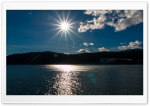 Afternoon Sun at Lake HD Wide Wallpaper for 4K UHD Widescreen desktop & smartphone
