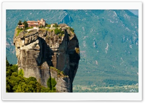 Agia Triada Monastery, Meteora, Greece HD Wide Wallpaper for Widescreen
