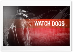 Aiden Pearce - Watch Dogs Red HD Wide Wallpaper for Widescreen