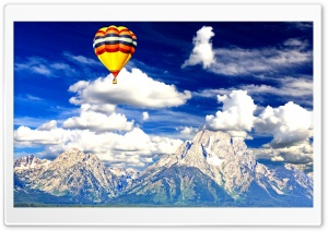 Air Balloon Over National Park HD Wide Wallpaper for Widescreen