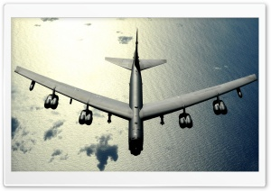Airplane Flying Over The Ocean HD Wide Wallpaper for 4K UHD Widescreen desktop & smartphone
