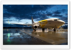 Airplane in the Evening Light HD Wide Wallpaper for Widescreen