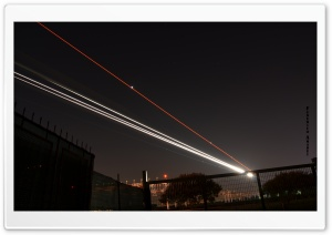 Airplane Lights HD Wide Wallpaper for Widescreen
