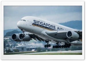 Airplane Singapore Airlines HD Wide Wallpaper for 4K UHD Widescreen desktop & smartphone