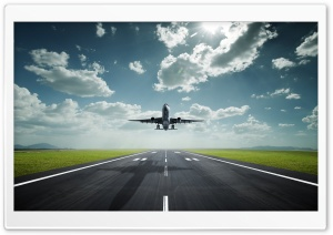 Airplane Take Off HD Wide Wallpaper for Widescreen