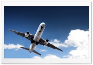 Airplane Taking Off HD Wide Wallpaper for Widescreen