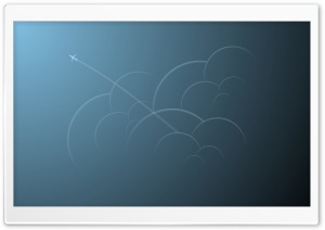 Airplane Trail HD Wide Wallpaper for Widescreen