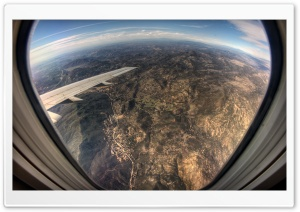 Airplane Window View HD Wide Wallpaper for Widescreen