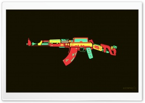 AK-47 HD Wide Wallpaper for Widescreen