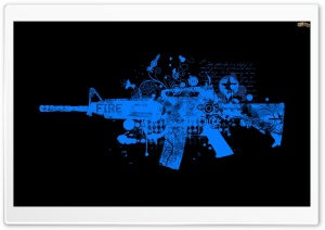 AK 47 Painted - Sumukh HD Wide Wallpaper for Widescreen