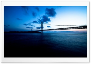 Akashi Kaikyo Bridge HD Wide Wallpaper for Widescreen