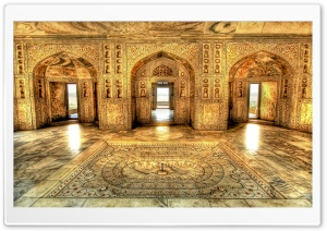 Akbar's Royal Bathing Chamber, Delhi, India HD Wide Wallpaper for Widescreen