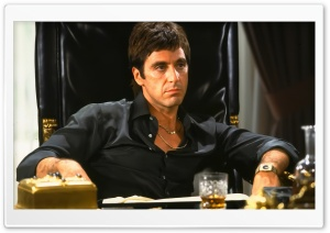 Al Pacino Scarface HD Wide Wallpaper for Widescreen