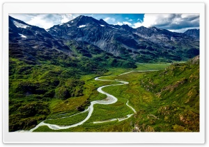 Alaska Mountains and Rivers Aerial View HD Wide Wallpaper for Widescreen