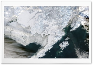 Alaska Seen from Space HD Wide Wallpaper for 4K UHD Widescreen desktop & smartphone